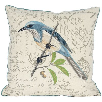 Avian Blue Bird Throw Pillow Fill: Polyester