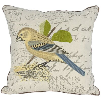 Avian Bird on Nest Throw Pillow Fill: Polyester