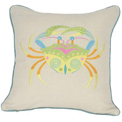 Archipelago Crab Throw Pillow Fill: Polyester