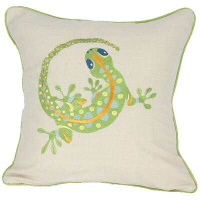 Archipelago Gecko Throw Pillow Fill: Polyester