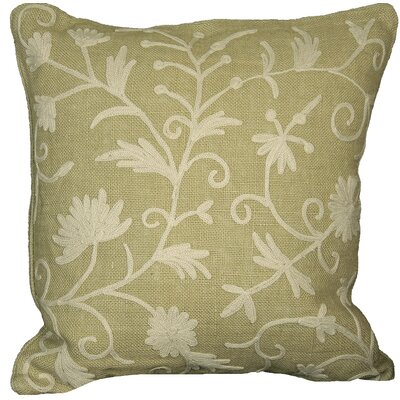 Vine Linen Throw Pillow Color: Natural, Fill: Feather