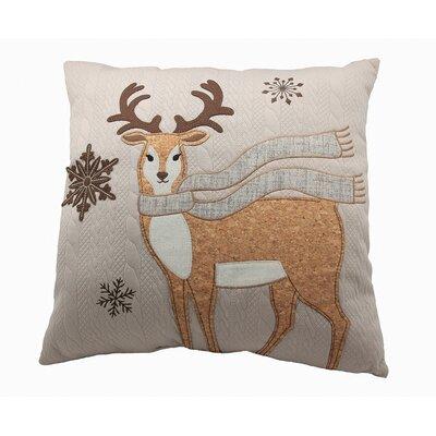 Cozy Reindeer Throw Pillow
