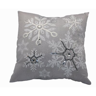 Glistening Snow Throw Pillow