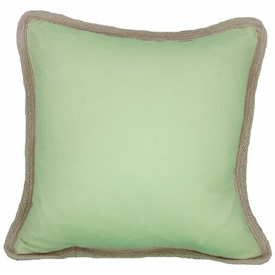 Classic Throw Pillow Color: Green, Fill: Feather