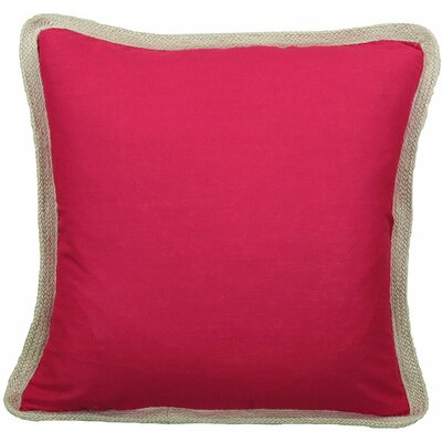 Classic Throw Pillow Color: Red, Fill: Feather