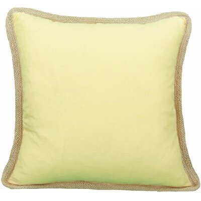 Classic Throw Pillow Color: Yellow, Fill: Feather