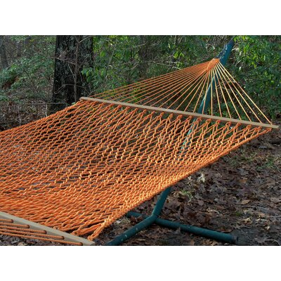 Olefin Rope Tree Hammock Color: Carrot