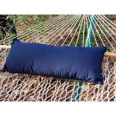 Sunbrella Hammock Outdoor Lumbar Pillow Color: Navy Blue