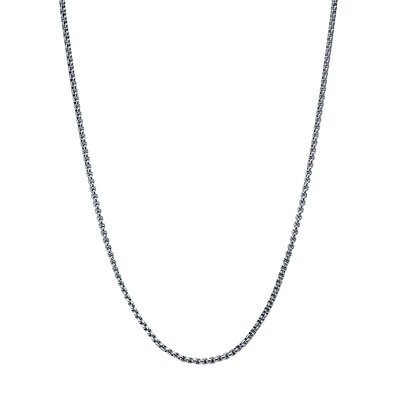 Stainless Steel Rolo Chain Necklace Size 22 image
