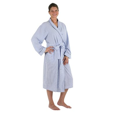 Seersucker Bathrobe Size: Medium/Large