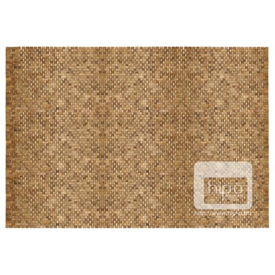 Hand-Woven Teak Indoor/Outdoor Area Rug