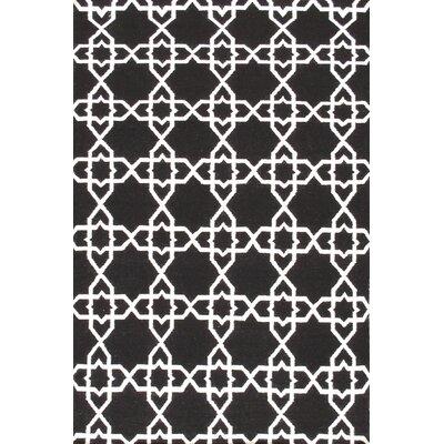 Sahara Black/White Area Rug Rug Size: 9 x 12