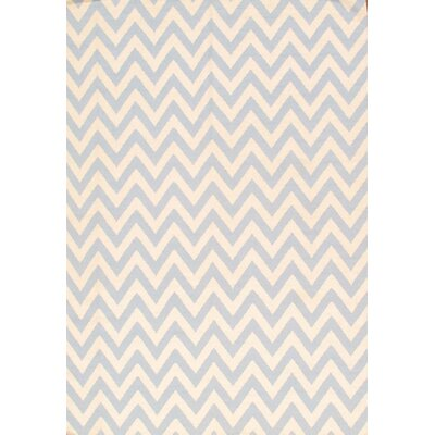 Sahara Light Blue/Ivory Area Rug Rug Size: 6 x 9