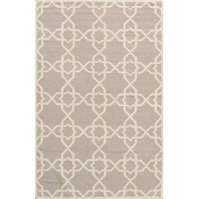 Sahara Light Gray/Ivory Area Rug Rug Size: 6 x 9