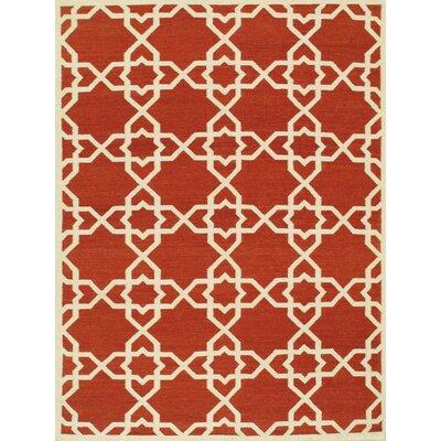 Sahara Red/Ivory Area Rug Rug Size: 10 x 14