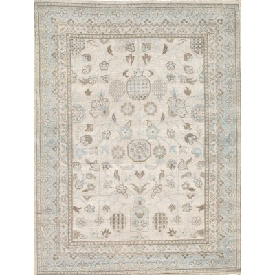 Khotan Light Grey Tribal Traditional Area Rug