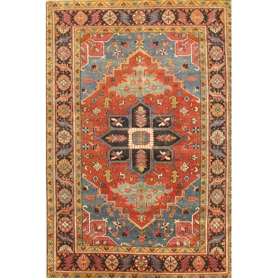 Serapi Navy/Red Heriz Rustic Area Rug 40319