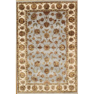 Agra Hand-Knotted Gray Area Rug