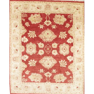 Oushak Cream/Rust Traditional Persian Area Rug