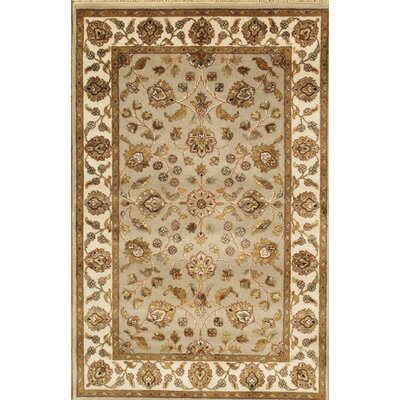 Agra Hand-Knotted Yellow Area Rug