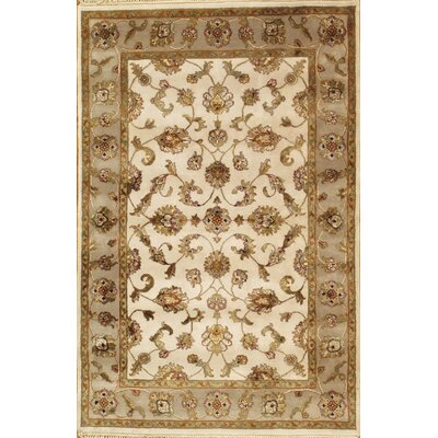 Agra Cream/Taupe Traditional Area Rug