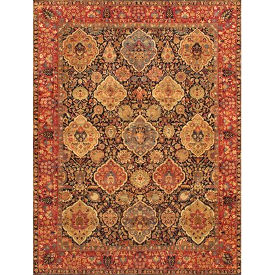 Kerman Hand-Knotted Navy Area Rug Rug Size: Rectangle 811 x 12