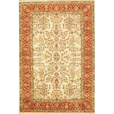 Sarouk Rust/Cream Traditional Persian Style Wool Area Rug