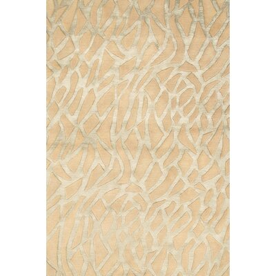 Modern Beige/Silver Contemporary Area Rug
