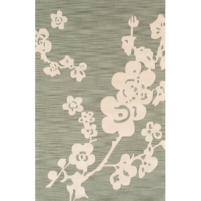 Hand-Tufted Silk and Wool Area Rug