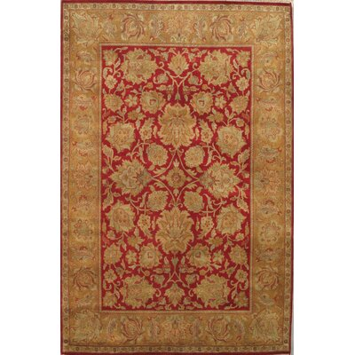Agra Oriental Hand-Knotted Lambs Wool Area Rug