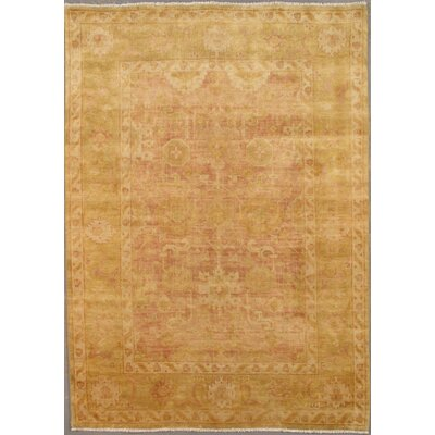 Oushak Decorative Turkish Tribal Design Hand-Knotted Wool Area Rug