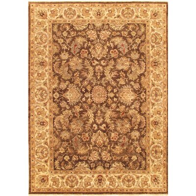Agra Hand-Knotted Brown/Ivory Area Rug