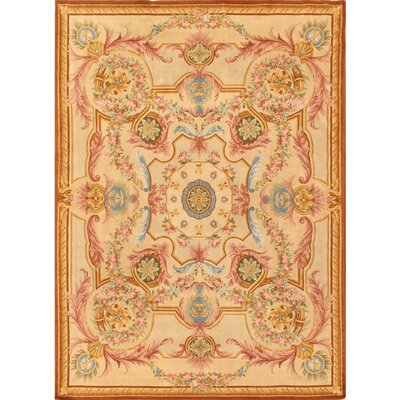 Savonnerie Traditional Lambs Wool Area Rug