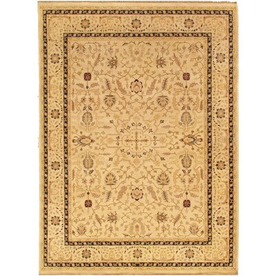 Ziegler Sul Traditional Hand Knotted Lambs Wool Camel Area Rug� Rug Size: 83 x 107