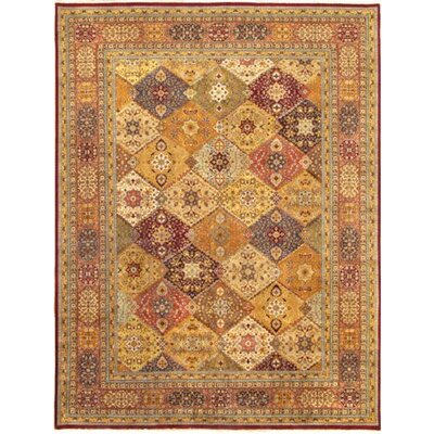 Tabriz Hand-Knotted Brown/Cream Area Rug
