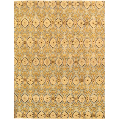 Ikat Transitional Lambs Wool Area Rug