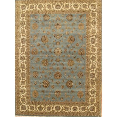 Tabriz Traditional Lambs Wool Black Area Rug