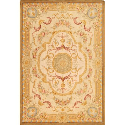 Savonnerie Traditional Lambs Wool Area Rug Rug Size: 10 x 14