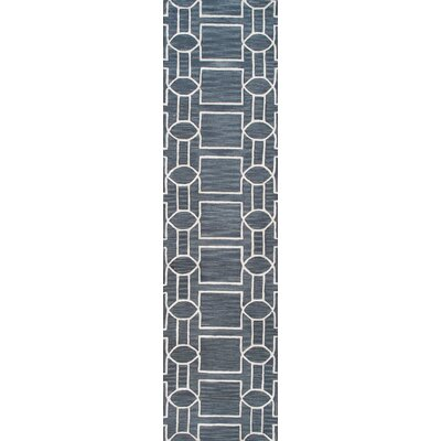 Venice Hand Tufted Transitional Gray Area Rug Rug Size: Runner 26 x 10