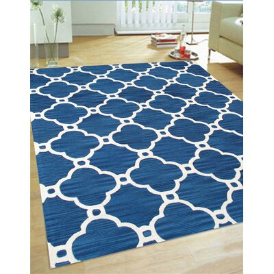 Venice Hand Tufted Transitional Blue Area Rug Rug Size: 4 x 6