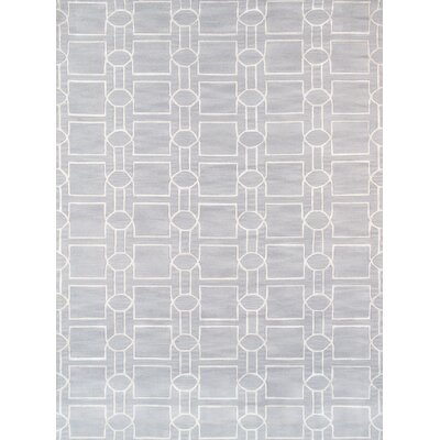 Venice Hand Tufted Transitional Gray Area Rug Rug Size: Rectangle 56 x 86