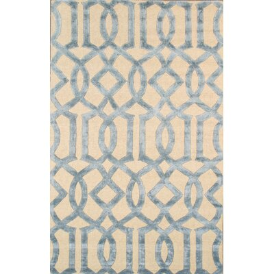 Transitional Hand-Tufted Beige/Blue Area Rug