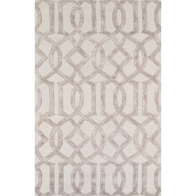 Venice Hand Tufted Transitional Beige Area Rug Rug Size: 56 x 86
