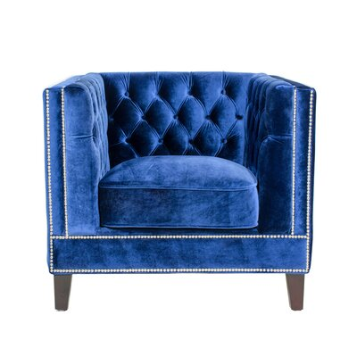 Victoria Armchair Upholstery: Royal Blue