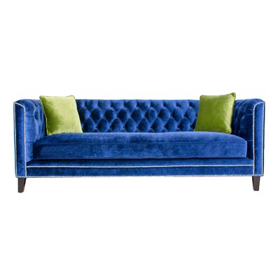 Victoria 3 Piece Chesterfield Sofa Set Upholstery: Navy