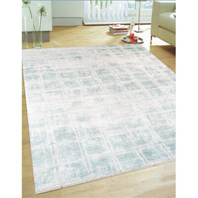Hand-Knotted Rayon from Bamboo Silk Area Rug Rug Size: 9 x 12
