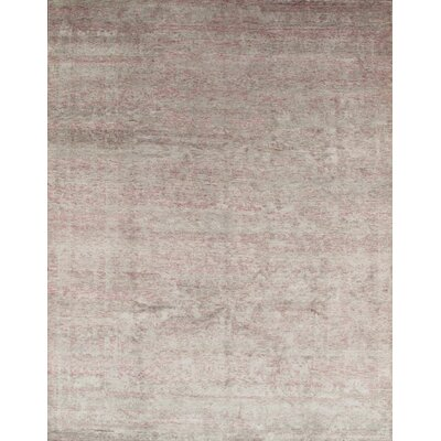 Hand-Knotted Rayon from Bamboo Silk Area Rug Rug Size: Runner 3 x 14