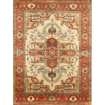 Tribal Serapi Persian Ivory/Rust Area Rug Rug Size: Rectangle 8 x 10