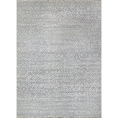 Hand-Knotted Wool and Rayon from Bamboo Silk Area Rug