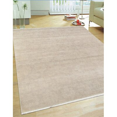 Hand-Knotted Wool and Rayon from Bamboo Silk Area Rug Rug Size: Rectangle 8 x 10